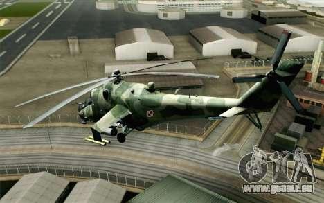 Mi-24D Polish Air Force für GTA San Andreas linke Ansicht