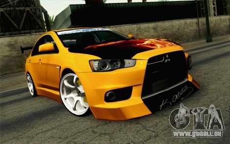 Mitsubishi Lancer Evolution X v2 für GTA San Andreas