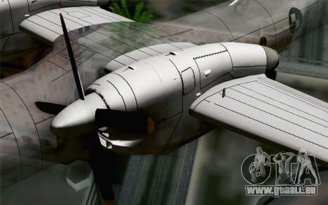AN-32B Croatian Air Force Closed pour GTA San Andreas vue de droite