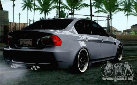BMW M3 E90 Hamann pour GTA San Andreas laissé vue