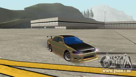 Toyota Mark II für GTA San Andreas zurück linke Ansicht
