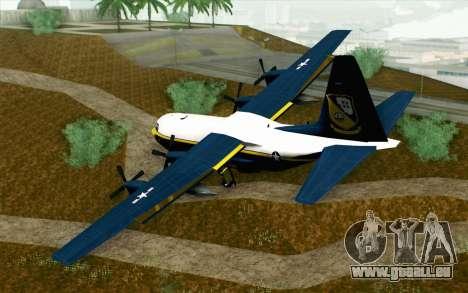 C-130H Hercules Blue Angels für GTA San Andreas linke Ansicht