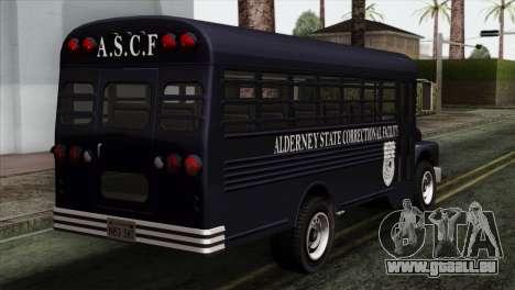 GTA 4 TLaD Prison Bus für GTA San Andreas linke Ansicht