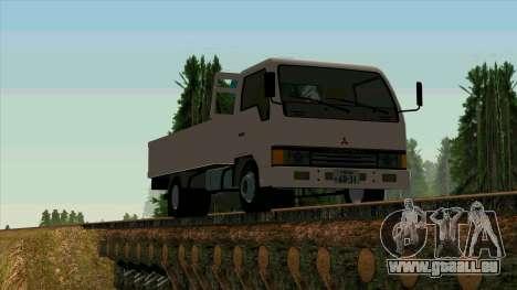 Mitsubishi Fuso Canter 1989 With Crane pour GTA San Andreas