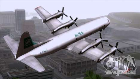 L-188 Electra Buffalo Airways pour GTA San Andreas laissé vue