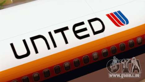 Lookheed L-1011 United Als pour GTA San Andreas vue arrière