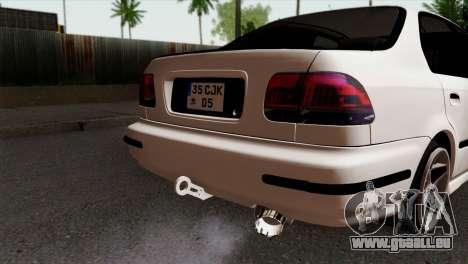 Honda Civic 1.6 pour GTA San Andreas vue arrière