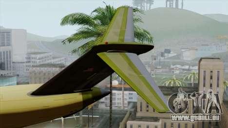 C-17A Globemaster III für GTA San Andreas zurück linke Ansicht