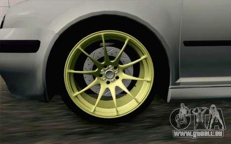 Volkswagen Golf Mk4 2002 Street Daily für GTA San Andreas zurück linke Ansicht