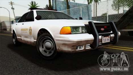 GTA 5 Vapid Stanier Sheriff pour GTA San Andreas