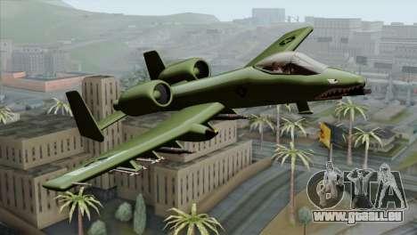 A-10 Warthog Shark Attack für GTA San Andreas