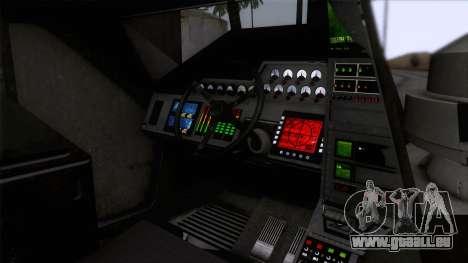 Alien APC M577 pour GTA San Andreas vue arrière