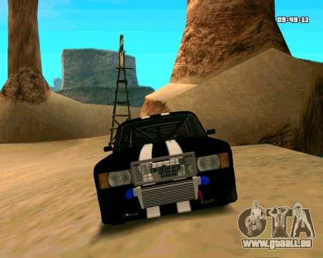 VAZ 2107 CRAMPES pour GTA San Andreas vue de dessus
