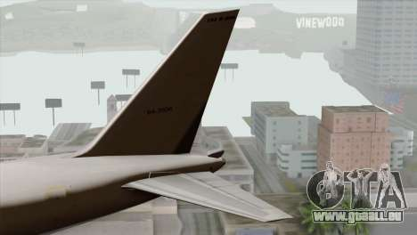 Boeing E-767 Japan Air Self-Defense Force EoJ pour GTA San Andreas sur la vue arrière gauche