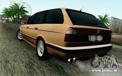 BMW M5 E34 Touring pour GTA San Andreas laissé vue