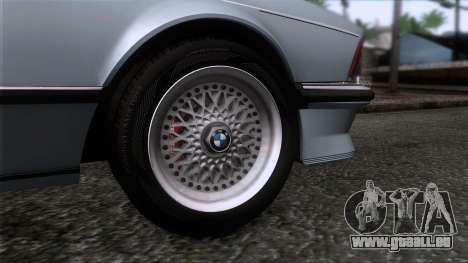 BMW M635 CSi 1984 Stock pour GTA San Andreas sur la vue arrière gauche
