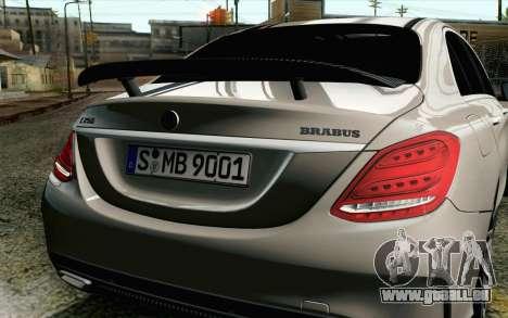 Mercedes-Benz C250 AMG Brabus Biturbo Edition EU für GTA San Andreas Rückansicht