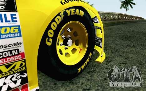 NASCAR Ford Fusion 2013 v4 pour GTA San Andreas sur la vue arrière gauche