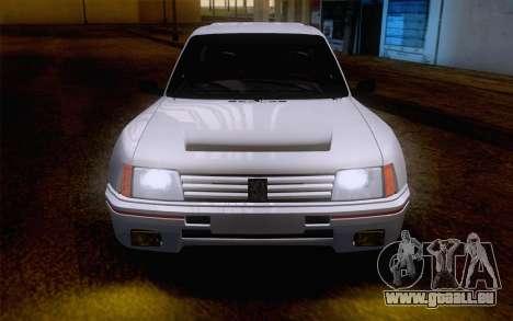 Peugeot 205 Turbo 16 1984 [IVF] pour GTA San Andreas vue intérieure