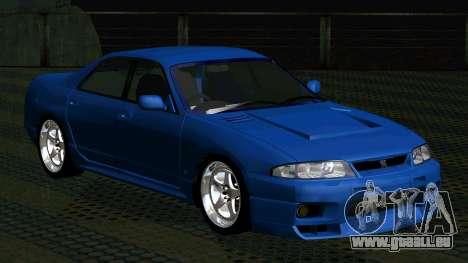 Nissan Skyline R33 4door outech pour GTA San Andreas laissé vue