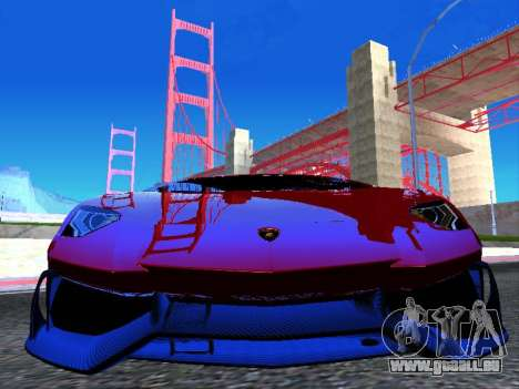 Lamborghini Aventador Novitec Torado für GTA San Andreas Rückansicht