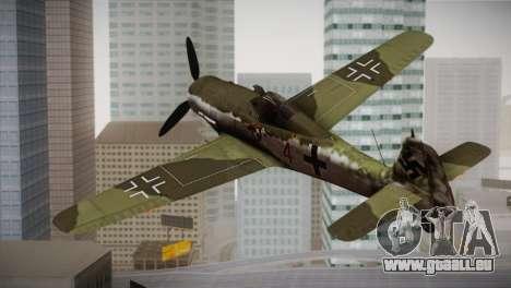 FW 190 D-11 Red 4 JV44 pour GTA San Andreas laissé vue