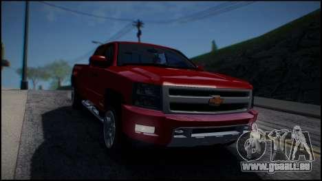 Chevrolet Silverado 1500 HD Stock pour GTA San Andreas vue arrière