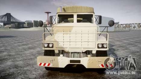 GTA 5 Barracks v2 pour GTA 4 Vue arrière de la gauche
