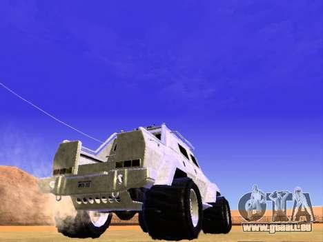 HVY Aufständischen Pickup für GTA San Andreas rechten Ansicht