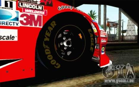 NASCAR Chevrolet Impala 2012 Short Track pour GTA San Andreas sur la vue arrière gauche