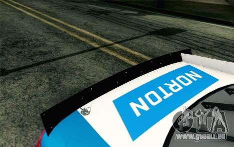 NASCAR Ford Fusion 2012 Plate Track pour GTA San Andreas vue arrière