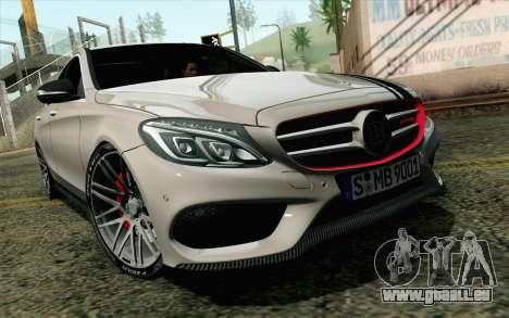 Mercedes-Benz C250 AMG Brabus Biturbo Edition EU pour GTA San Andreas
