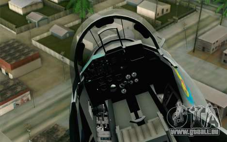 MIG-29 Polish Air Force für GTA San Andreas rechten Ansicht