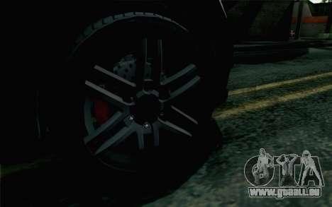 GTA 5 Karin Kuruma v2 Armored IVF für GTA San Andreas zurück linke Ansicht