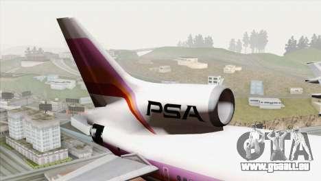 Lookheed L-1011 PSA pour GTA San Andreas sur la vue arrière gauche
