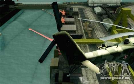 Mi-24D Polish Air Force für GTA San Andreas zurück linke Ansicht