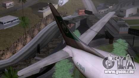 L-188 Electra Buffalo Airways pour GTA San Andreas vue arrière