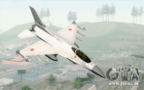 Mitsubishi F-2 White JASDF Skin pour GTA San Andreas