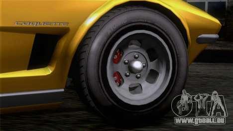 GTA 5 Invetero Coquette Classic HT IVF pour GTA San Andreas sur la vue arrière gauche