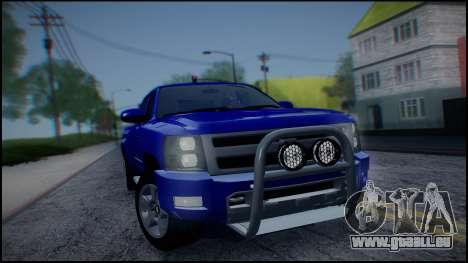 Chevrolet Silverado 1500 HD Stock pour GTA San Andreas vue intérieure