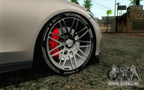 Mercedes-Benz C250 AMG Brabus Biturbo Edition EU pour GTA San Andreas sur la vue arrière gauche