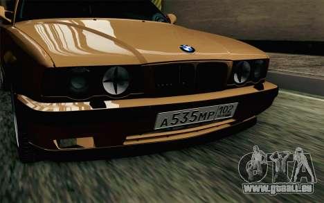 BMW M5 E34 Touring pour GTA San Andreas vue arrière