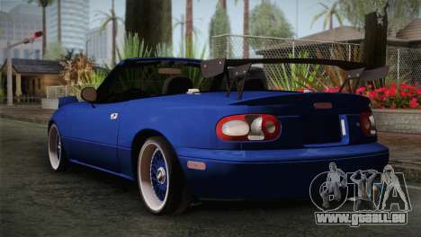 Mazda Miata Cabrio v2 pour GTA San Andreas laissé vue