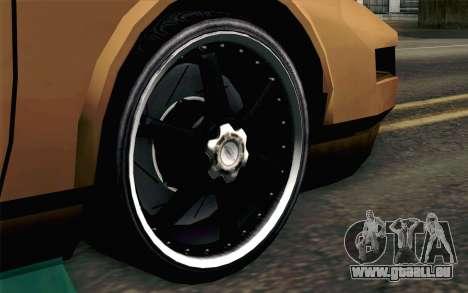 Infernus Edicte v2 pour GTA San Andreas sur la vue arrière gauche