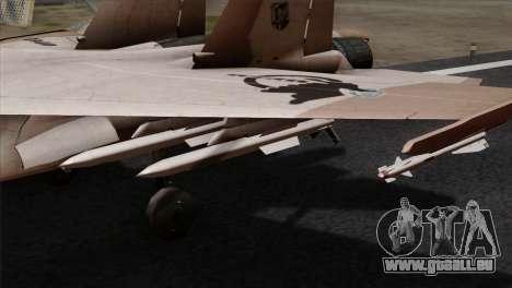 SU-37 UPEO für GTA San Andreas rechten Ansicht