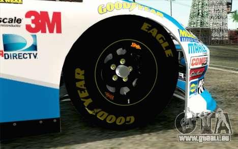 NASCAR Ford Fusion 2012 Plate Track pour GTA San Andreas sur la vue arrière gauche