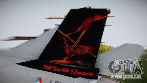 F-16 Fighting Falcon 60th Anniv. of Volkel AFB für GTA San Andreas zurück linke Ansicht