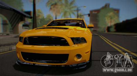 Ford Shelby GT500 2013 Vossen version für GTA San Andreas Innenansicht