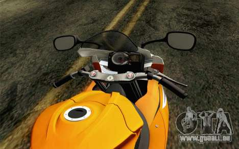 Suzuki GSX-R 600 2015 Orange pour GTA San Andreas vue de droite