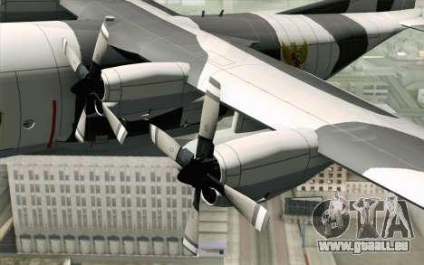 Lockheed C-130 Hercules Indonesian Air Force pour GTA San Andreas vue de droite